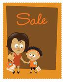 Försäljning affisch — Stockvektor