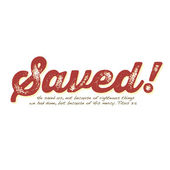 Vintage Christian design – Saved! — Stock Vector