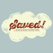 Vintage Christian design, Saved — Stock Vector