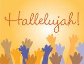 Hallelujah Jesus! — Stock Vector