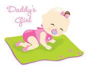 Baby on blanket — Stock Vector