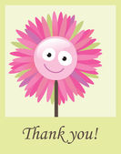 Flower thank you card — Stock Vector