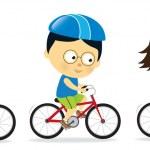 Adults biking — Stock Vector #26442947