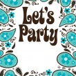 Party flyer w/ paisley — Stock Vector #3104122