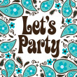 Seventies Style Party Invitation — Stock Vector #3117066