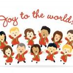 圣诞唱诗班 — 图库矢量图片