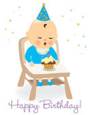 Birthday baby boy — Stock Vector