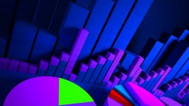 Business graphics and Forex indicators — Stock Video