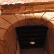 An ancient Roman arch in the old town — Stock Video