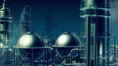 Industrial city — Stock Video
