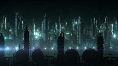 Industriële stad — Stockvideo