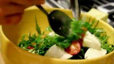 Vegetable food — Stock Video