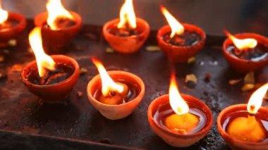 非常に熱い蝋燭 — ストックビデオ