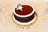 Cake with red fruit jelly — Stock Photo