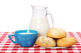 Healthy breakfast on table — Stock Photo