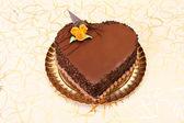 Ciasto czekoladowe serca kształt — Zdjęcie stockowe