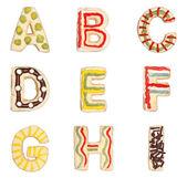 Cartas um para eu de biscoitos decorados — Foto Stock