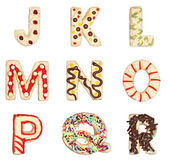 Letters J to R from decorated cookies — Stock Photo