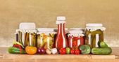 Przetwory warzywne — Zdjęcie stockowe