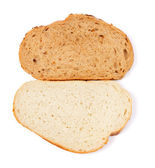 White and brown bread slice — Stock Photo