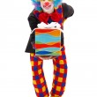 Clown with present — Stock Photo #22303185