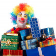 Clown with presents — Stock Photo #22303265