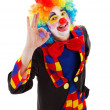 Clown showing ok sign — Stock Photo