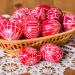 Traditional transylvanian hand written eggs — Stock Photo