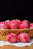 Traditional transylvanian hand written eggs — Foto Stock