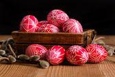 Traditional transylvanian hand written eggs — Stock Photo