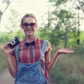 Elegante fotografo — Foto Stock