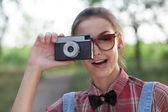 Stijlvolle fotograaf — Stockfoto