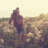Stylish photographer — Stock Photo
