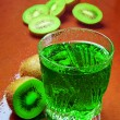 Kiwi fruit and juice — Stock Photo