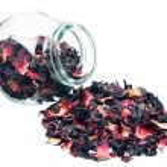 Dry flower tea of big leaves — Stock Photo