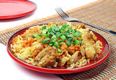 Pilaf with meat — Foto de Stock