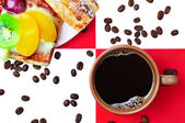 Coffee with cakes — Stock Photo
