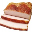 Smoked lard closeup - Stock Photo