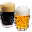 Two glass of beer - Stock Photo