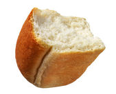 Half of white bread — Stock Photo
