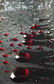Background with a big drops — Stock Photo