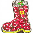 Royalty-Free Stock Photo: Christmas gingerbread in the shape of a boot