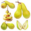 Stock Photo: Set of ripe pears