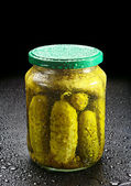 Pickled cucumber — Stock Photo
