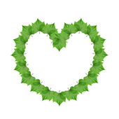 Frame in the form of heart — Stock Photo