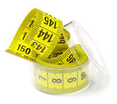 Measuring tape in a box — Stock Photo