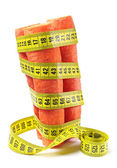 Carrots and measuring tape — Stock Photo