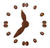 Coffee beans in the form of hours — Stock Photo