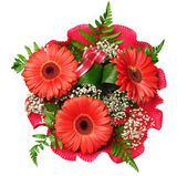 Bouquet of flowers with gerberas — Stock Photo