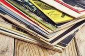 Revistas viejas — Foto de Stock